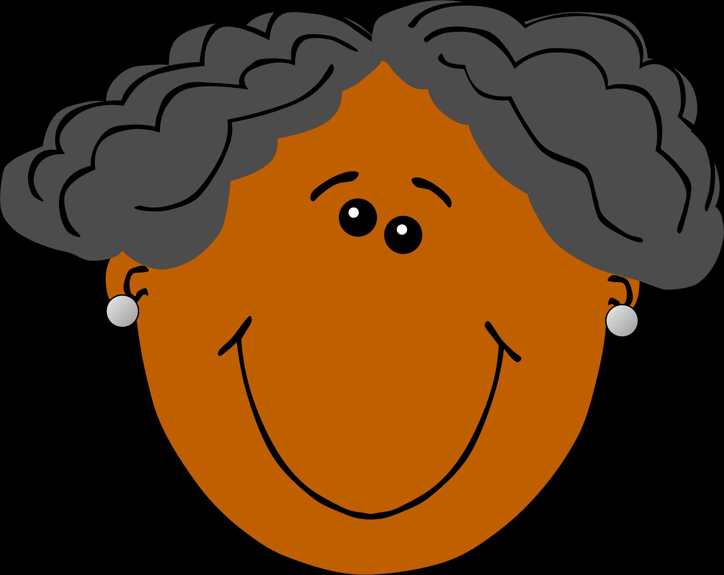 Skin clipart tan skin. Grandma with dark big