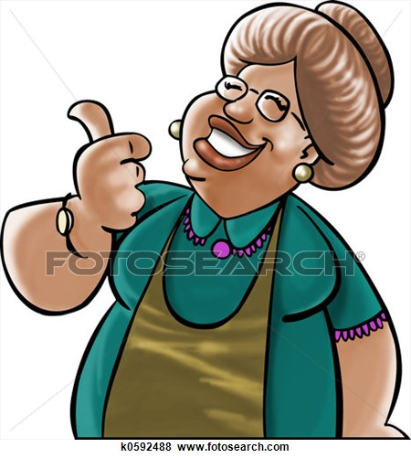Black Grandmother Clipart