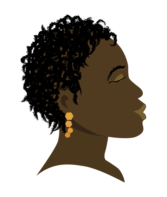 African clipart head.  collection of free