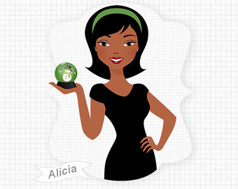 American woman . African clipart lady african