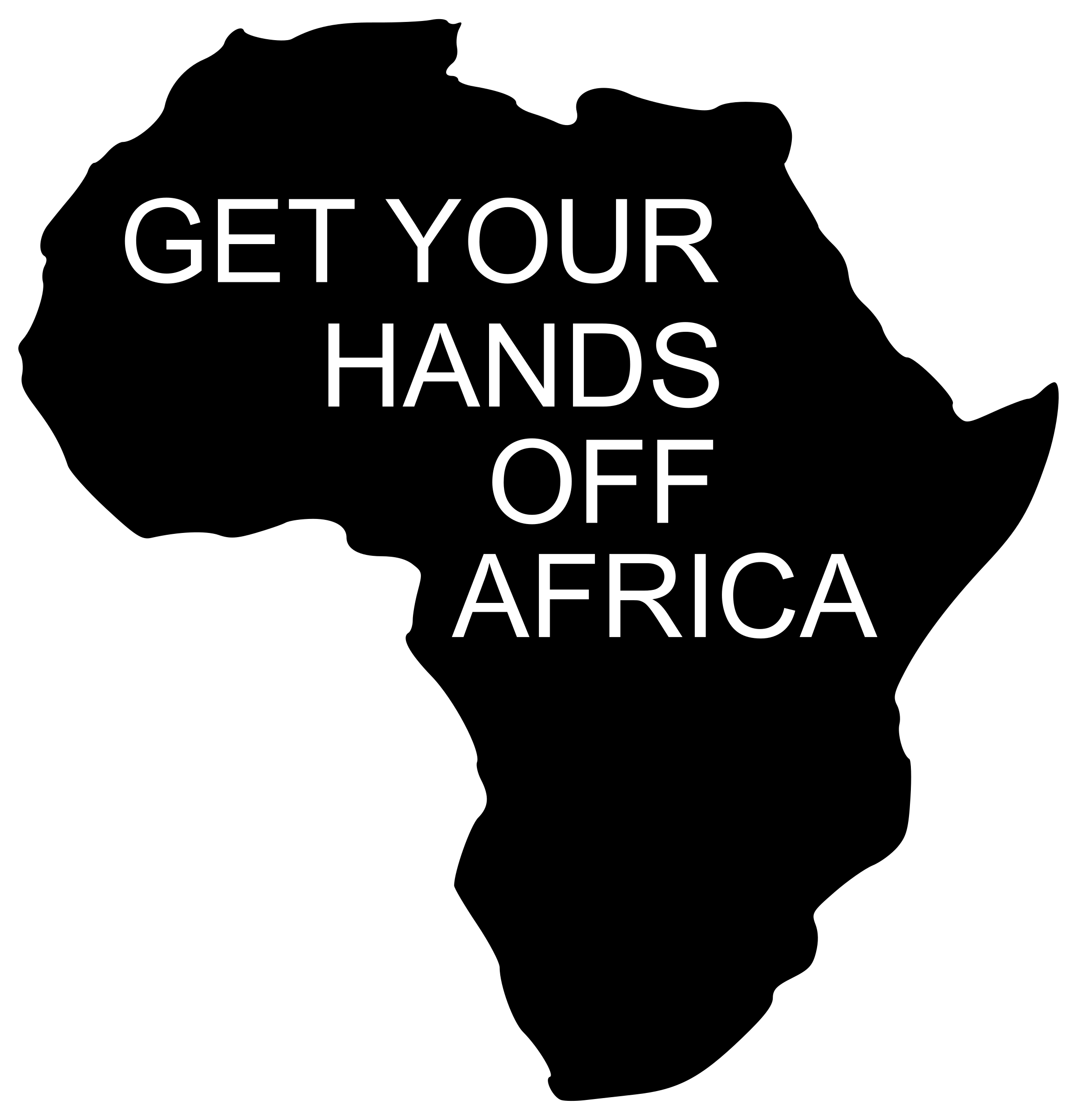 African clipart logo. Get your hands off