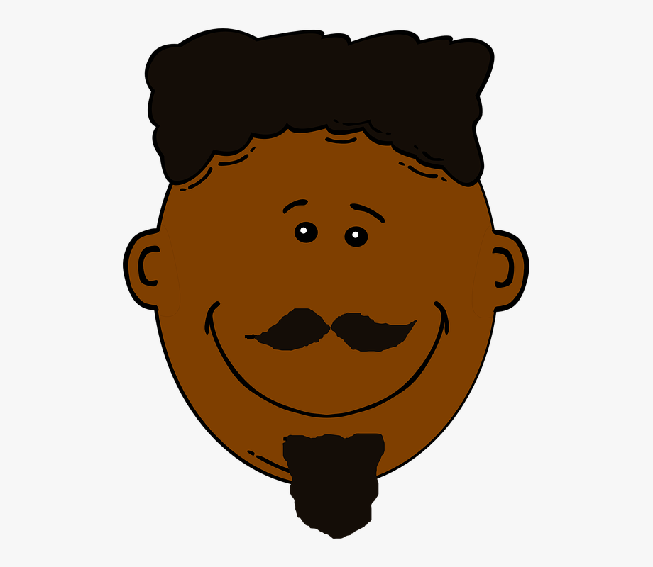 Blacking face american clip. African clipart man african