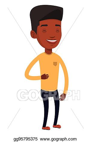 Vector art young american. African clipart man african