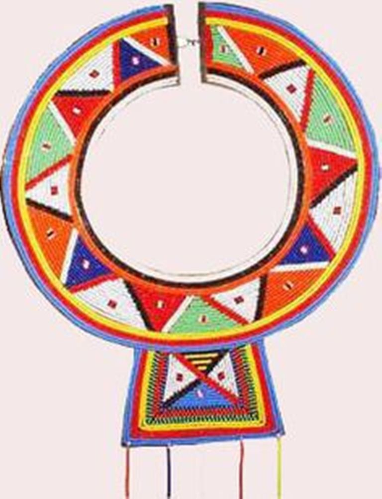 Beaded jewelry tribal handmade. African clipart masai