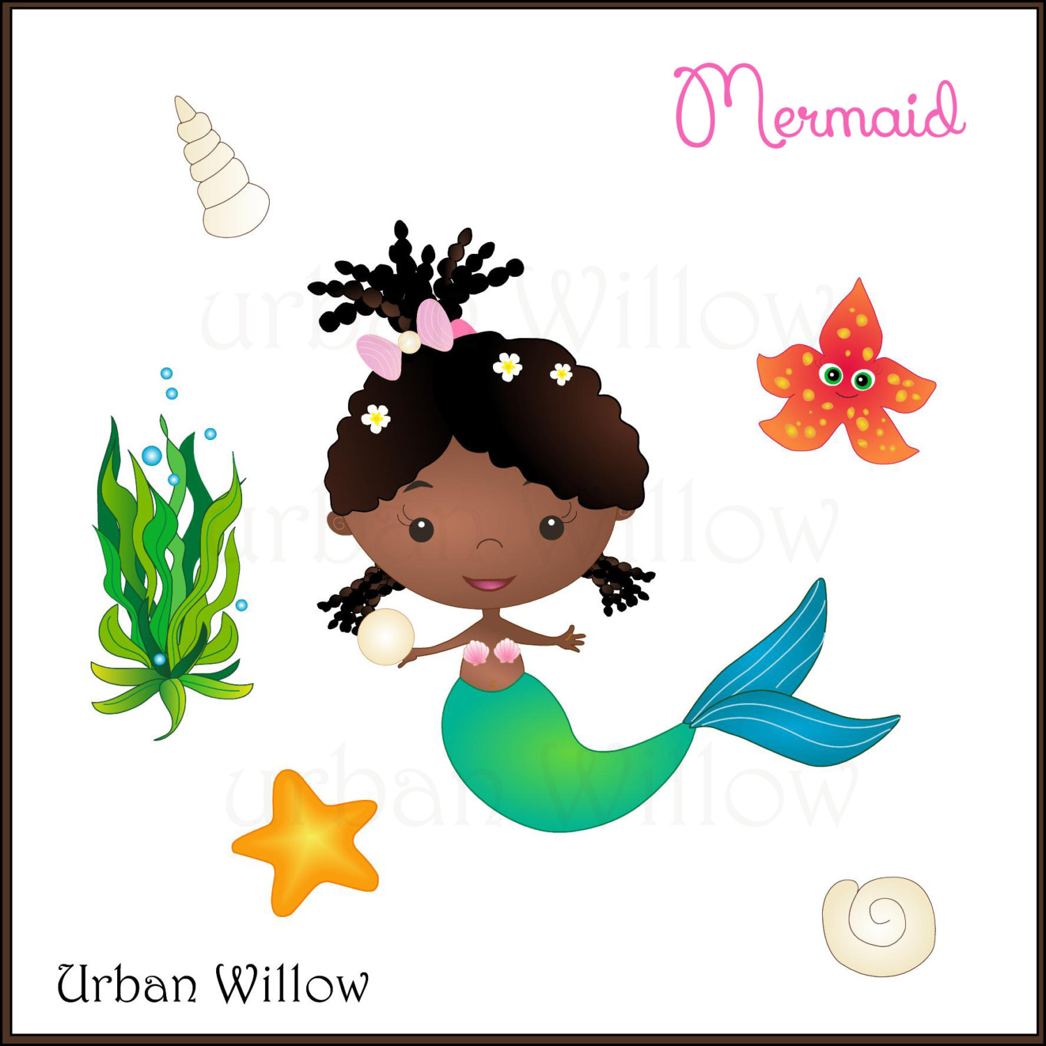 American cute this is. African clipart mermaid