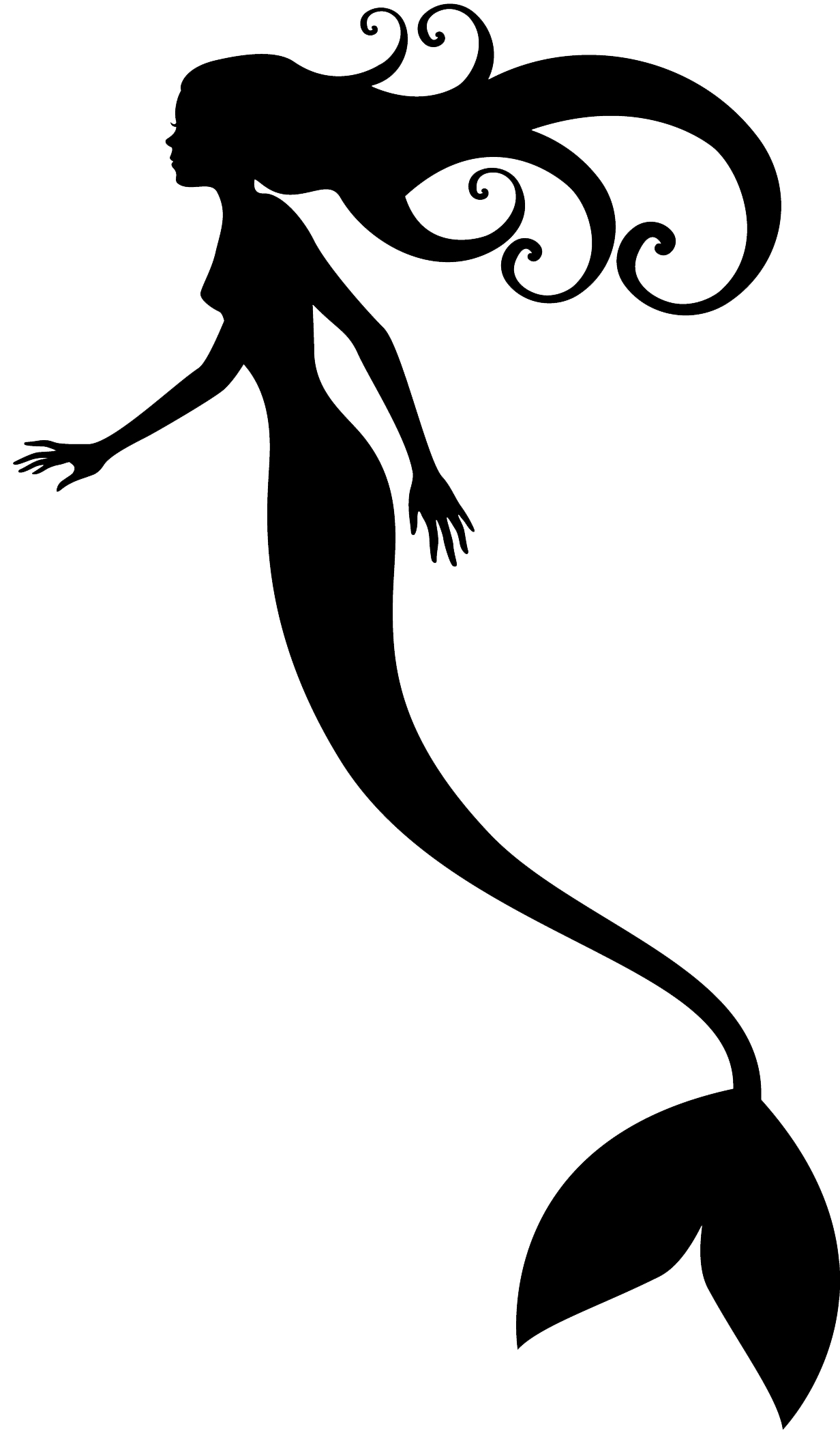 African clipart mermaid. Mermaids shadow puppet silhouette