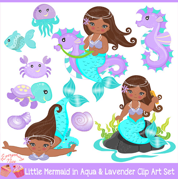 American little mermaids in. African clipart mermaid