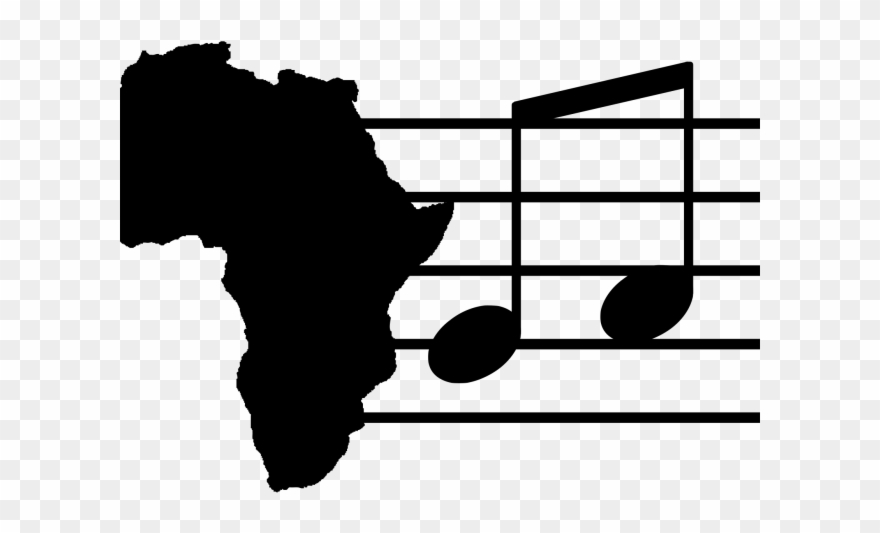 Notes rhythms africa map. African clipart music african