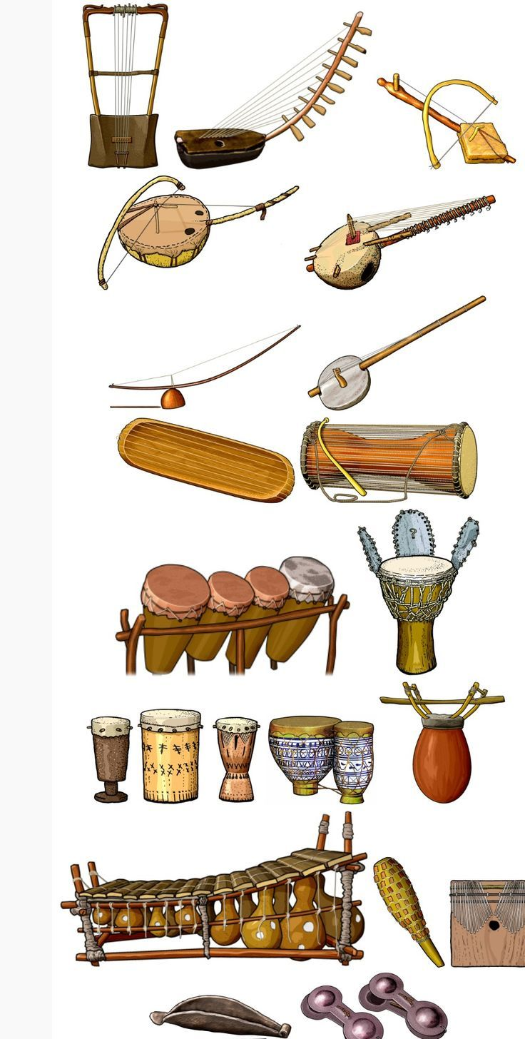 African clipart music african.  best instruments images