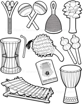 African clipart musical instrument. Instruments clip art by