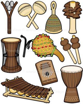 African clipart musical instrument. Instruments clip art preschool