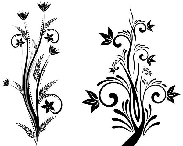 Flower designs black and. African clipart simple