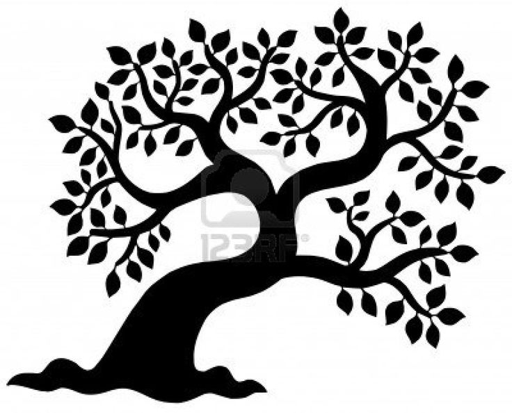 Trees silhouette at getdrawings. African clipart simple