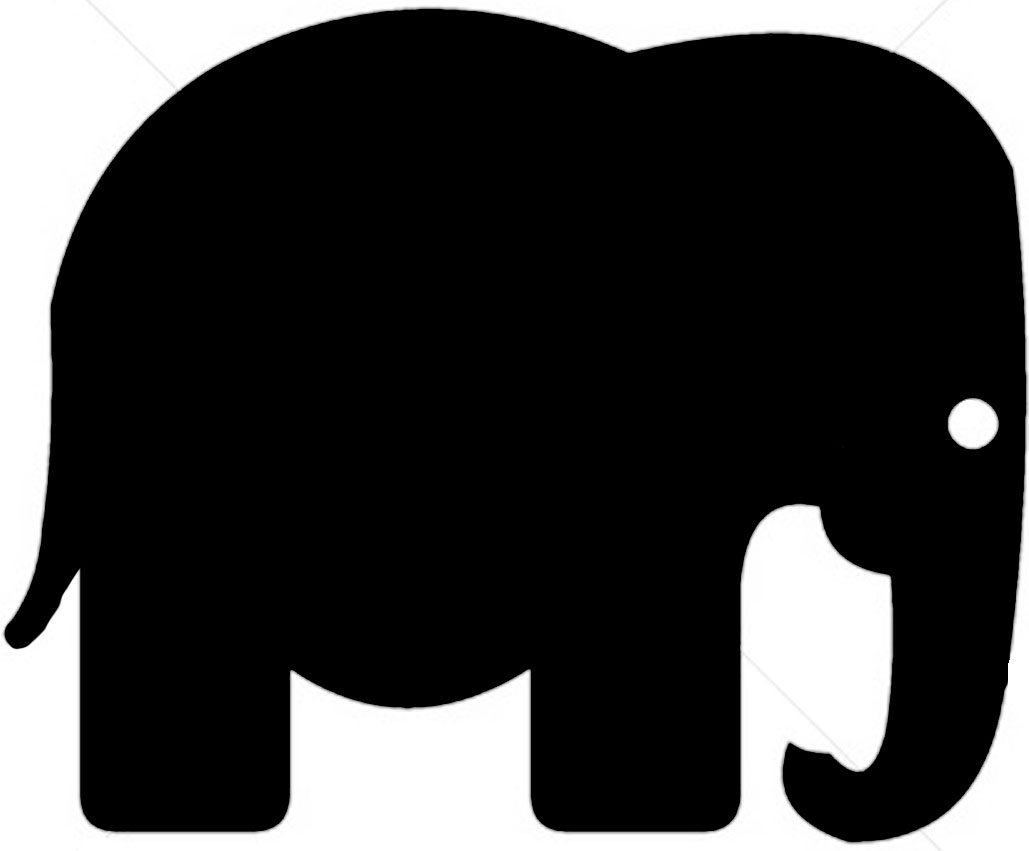 African clipart simple. Elephant silhouette at getdrawings