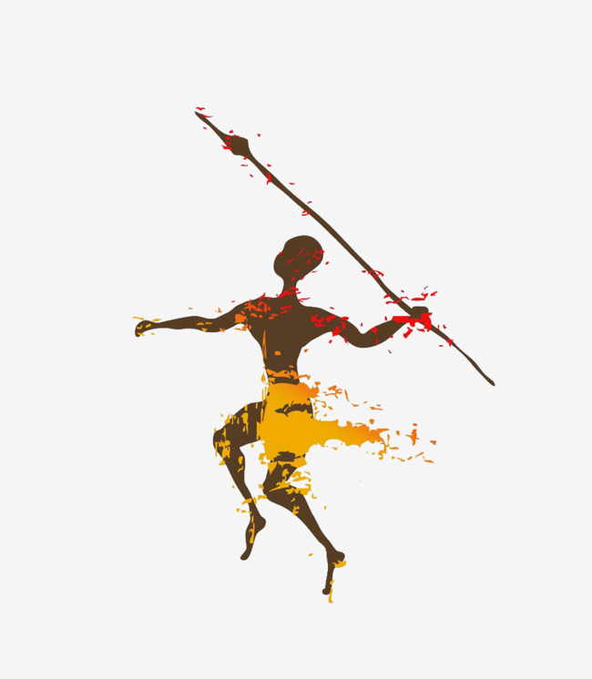 African clipart spear. Tribal totem tribes fight