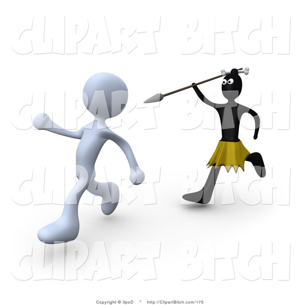 Clip art of an. African clipart spear