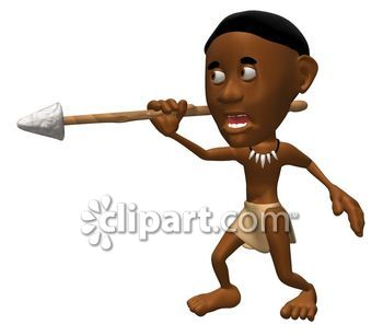 Com school edition demo. African clipart spear