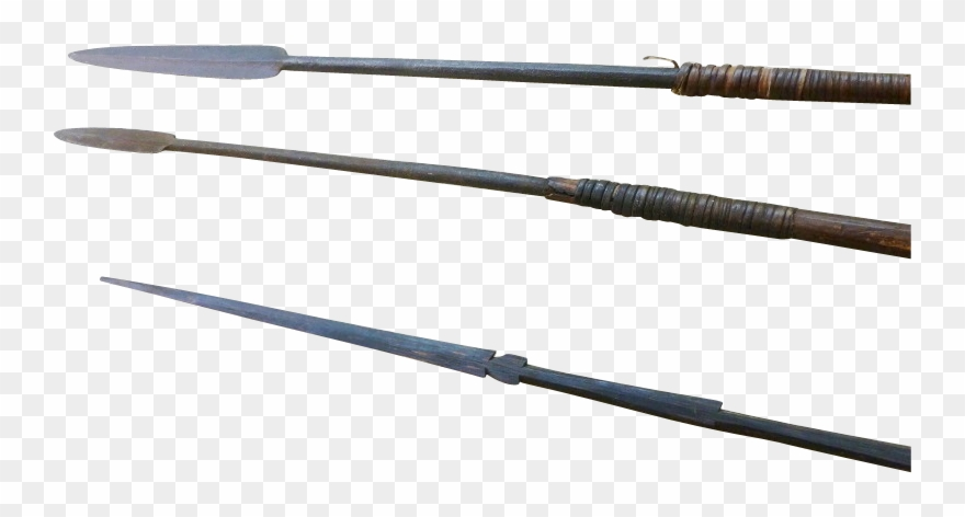Antique and oceanic spears. African clipart spear