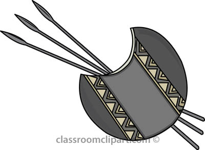African clipart spear. Africa spears shield classroom