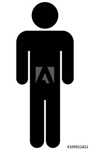 African clipart stick figure. Icon buy this stock
