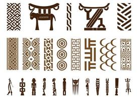 African clipart symbol. Free set and vector