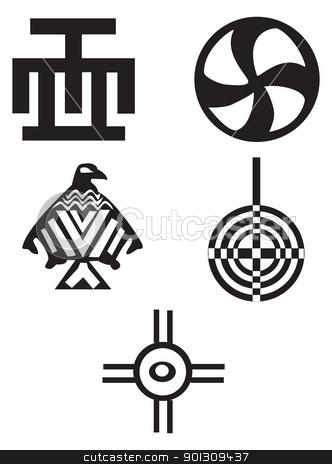 African clipart symbol. Native indian symbols