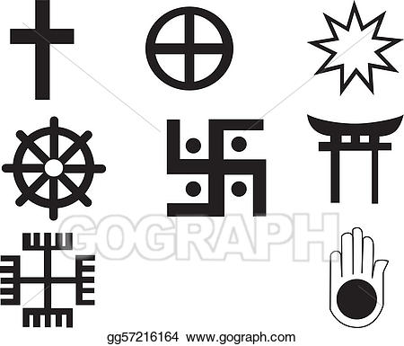 Vector stock five different. African clipart symbol
