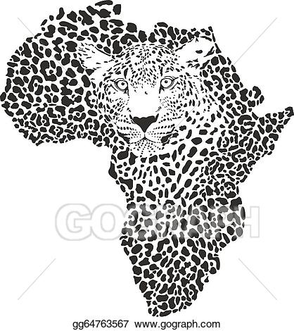 African clipart symbol. Vector art africa in