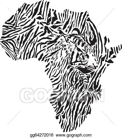 African clipart symbol. Vector africa in tiger