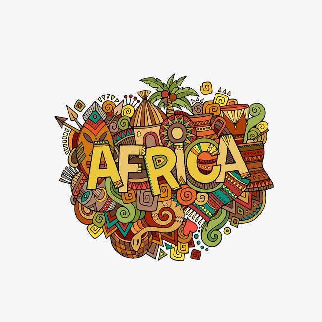 African clipart symbol. Themed illustration tribes shield