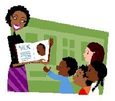 African clipart teacher. American teachers class flat
