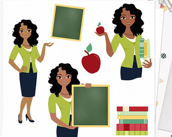 Woman teacher character clipart teaching illustration