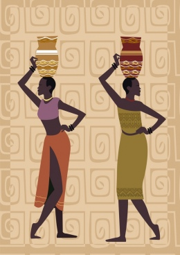 African clipart traditional. Africa free vector download