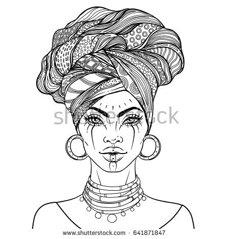collection of woman. African clipart traditional