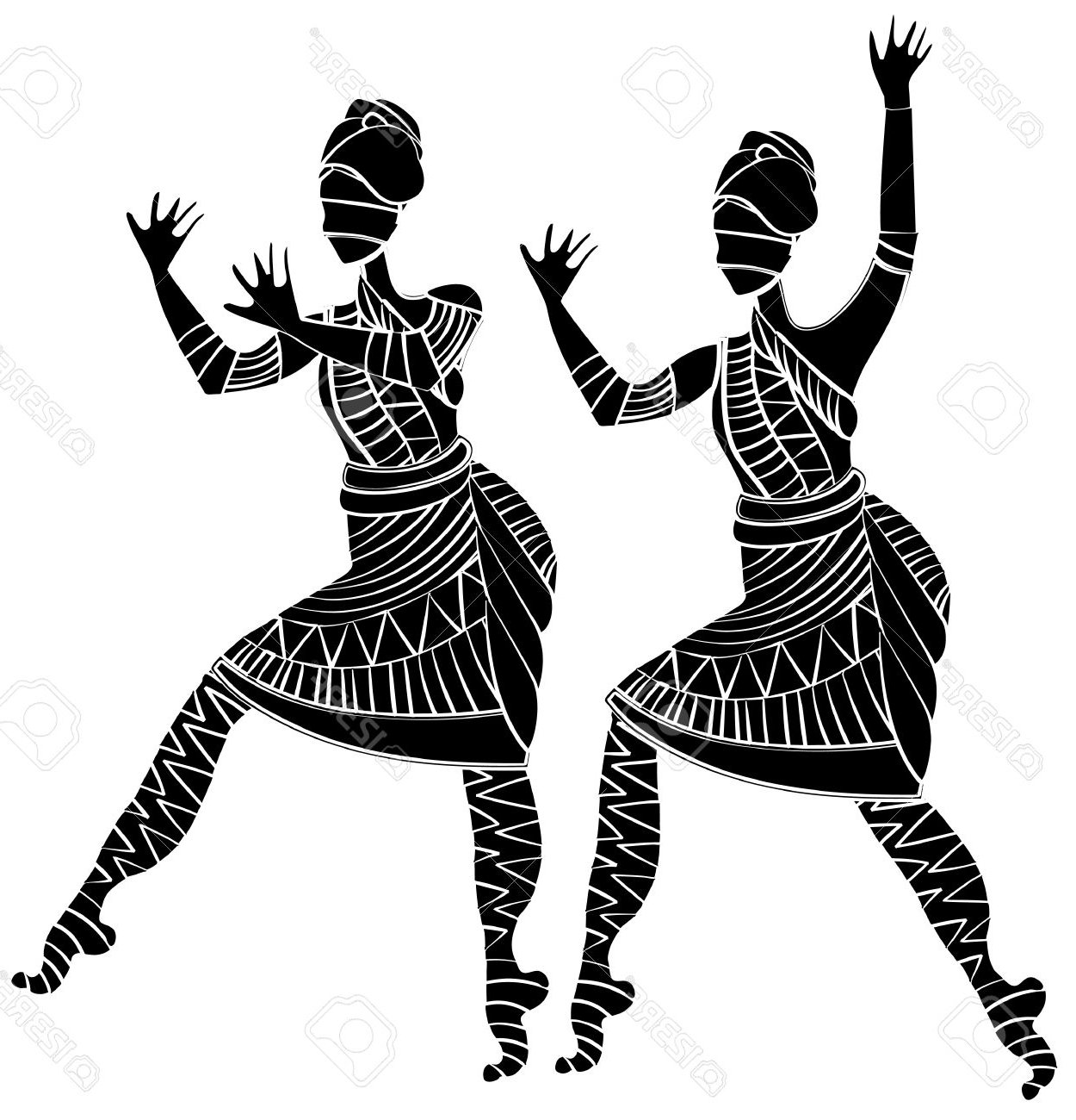 West dance many interesting. African clipart traditional
