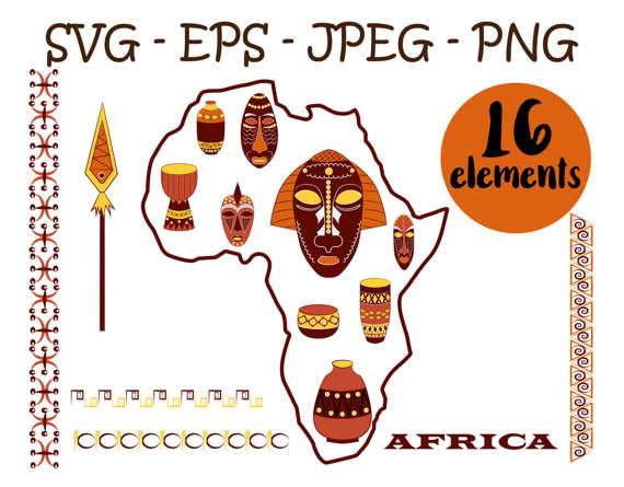 African clipart tribal. Clip art africa scrapbook