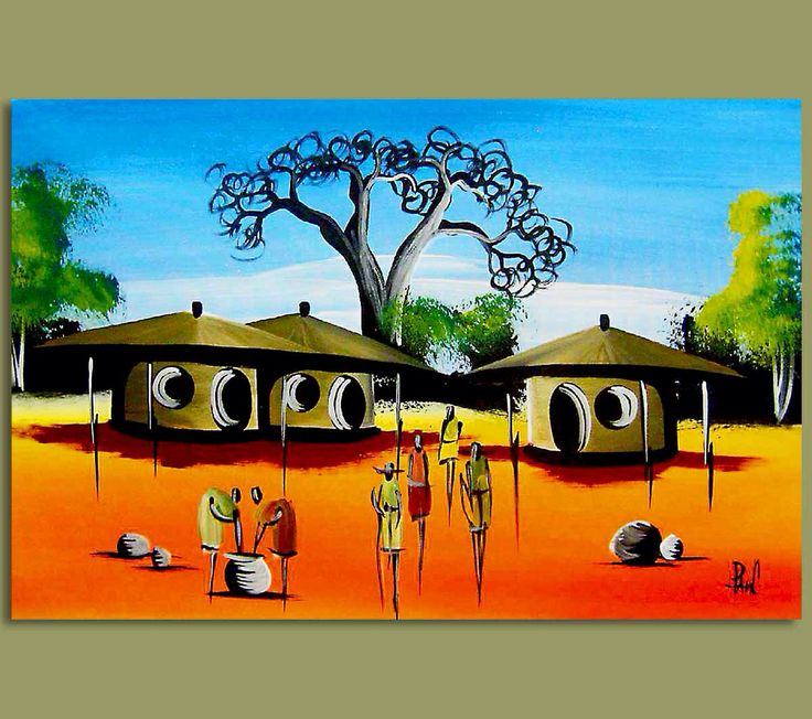 Drawing at getdrawings com. African clipart village