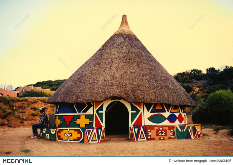 African clipart village. Hut in stock photo
