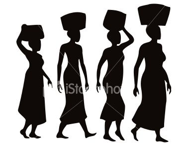 Afro silhouette clip art. African clipart village