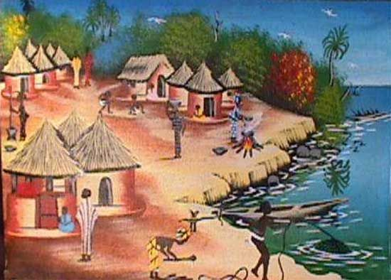 African clipart village. Africa art google search