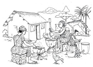 Art page of fine. African clipart village