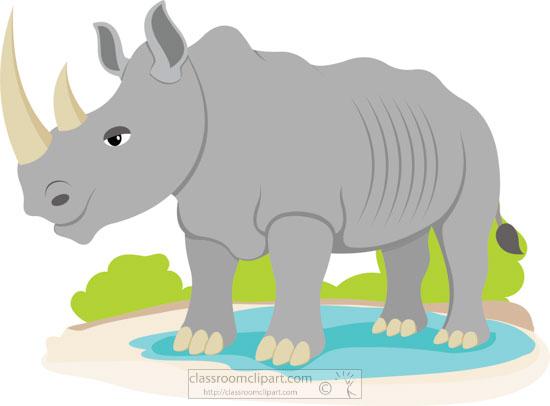 Rhino rhinoceros at africanrhinocerosatwateringholeclipartjpg. African clipart watering hole