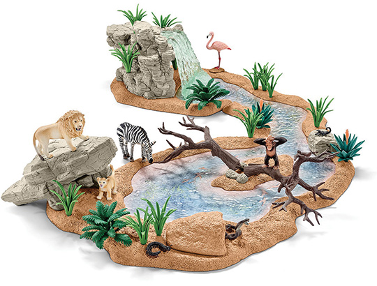 African clipart watering hole. Schleich big adventure waterhole