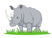 African clipart watering hole. Free rhino clip art