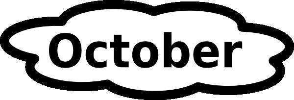 African clipart word. October calendar clip art