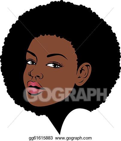 Afro clipart. Hair clip art royalty