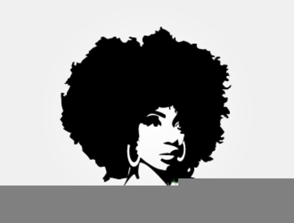 Afro clipart. Black woman with free