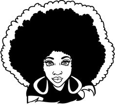 African american woman face. Afro clipart