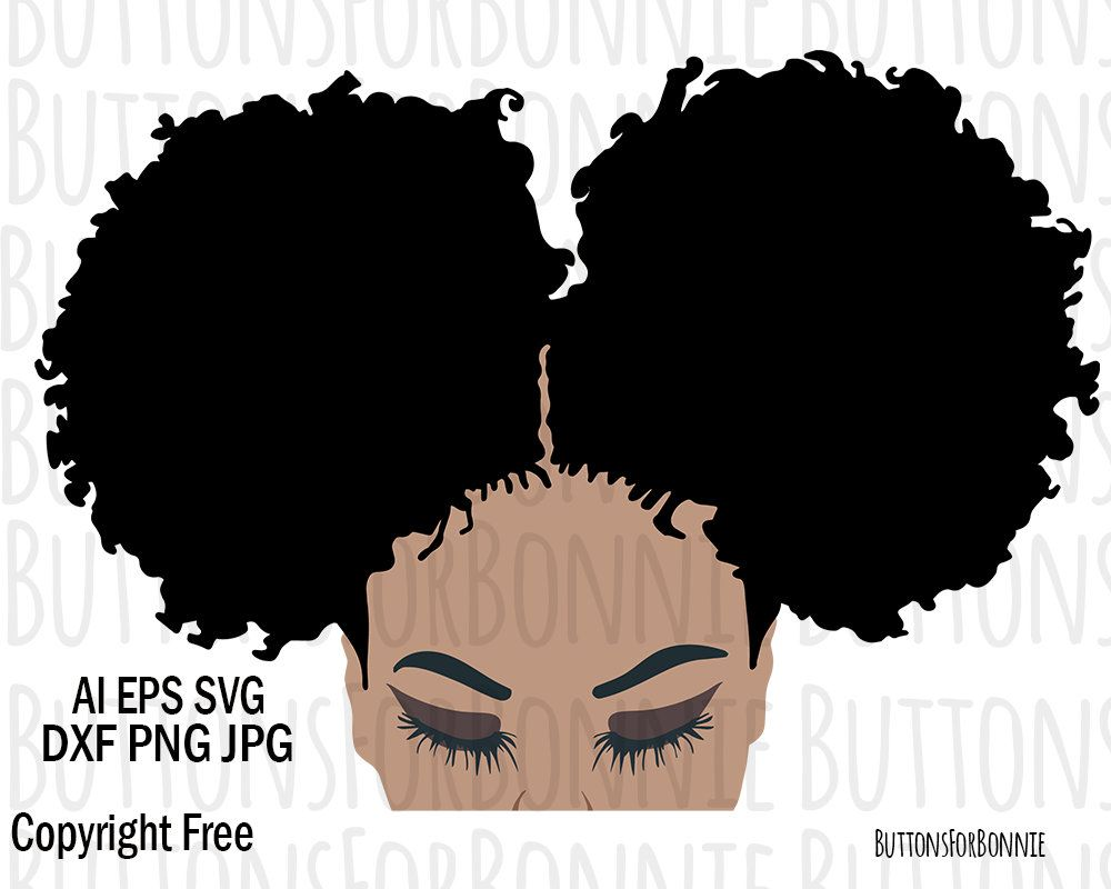 Pin on hair . Afro clipart