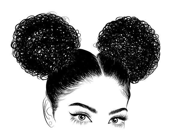 Afro clipart afro girl. Woman svg black lady